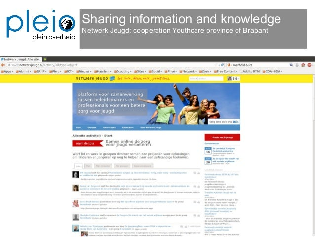 Sharing information and knowledge Netwerk Jeugd: cooperation Youthcare province of Brabant