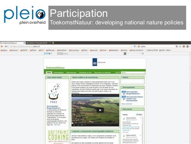 Participation ToekomstNatuur: developing national nature policies