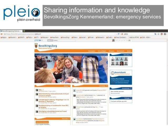Sharing information and knowledge BevolkingsZorg Kennemerland: emergency services
