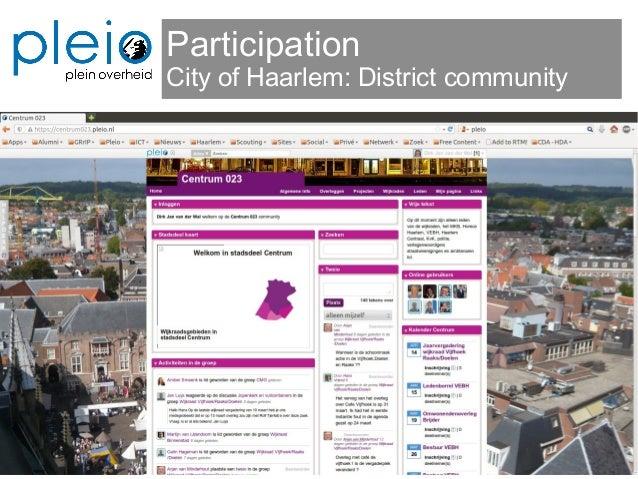 Participation City of Haarlem: District community