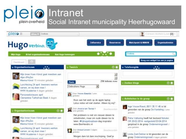 Intranet Social Intranet municipality Heerhugowaard