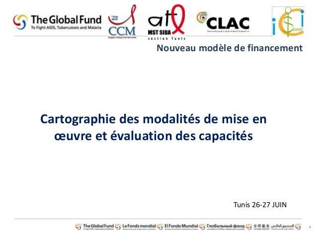 1  Nouveau modèle de financement  Cartographie des modalités de mise en  oeuvre et évaluation des capacités  Tunis 26-27 J...