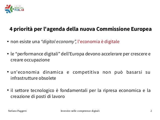 Investire in competenze digitali Slide 2