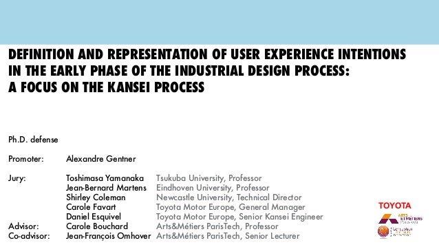 Definition and representation of user experience intentions in the early phase of the industrial design process: a focus o...