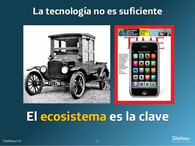4Telefónica I+D La tecnología no es suficiente El ecosistema es la clave