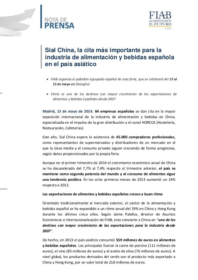 Sial China, la cita más importante para la industria de alimentación y bebidas española en el país asiático  FIAB organiz...