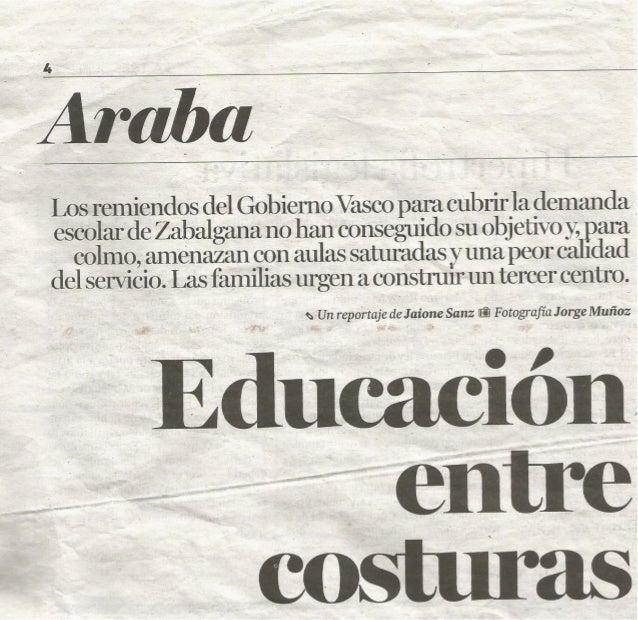 (0) Educación entre costuras. Diario de Noticias 2014/05/15.
