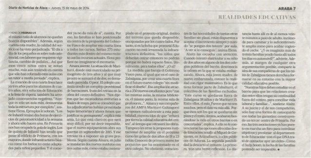(2) Educación entre costuras. Diario de noticias 2014/05/15