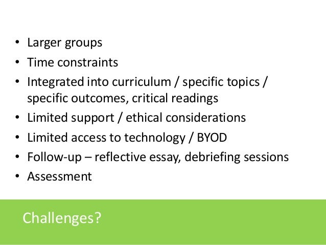 Reflective essay on teaching session
