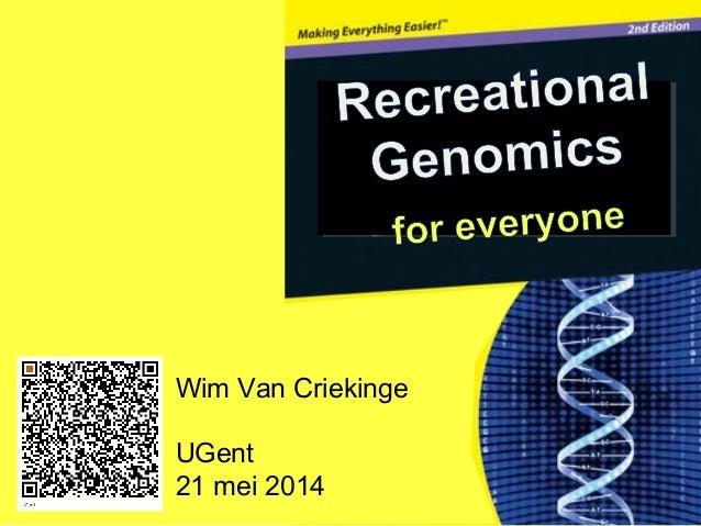Wim Van Criekinge UGent 21 mei 2014