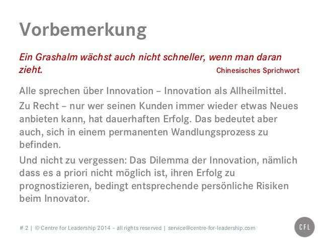 # 2   © Centre for Leadership 2014 – all rights reserved   service@centre-for-leadership.com Vorbemerkung Ein Grashalm wäc...