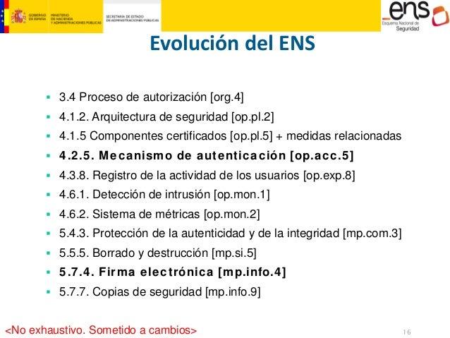 16  MINISTERIO  DE HACIENDA  Y ADMINISTRACIONES PÚBLICAS  Evolución del ENS  ƒ  3.4Procesodeautorización[org.4]  ƒ  4.1.2....