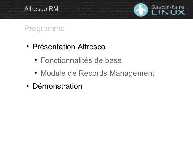 La gestion des archives avec Alfresco Slide 2