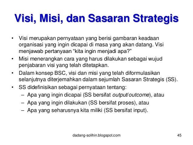 Visi Misi Strategi Kebijakan Program Dan Kegiatan