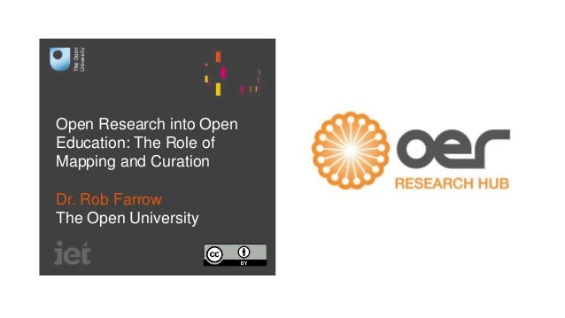 Open Research into Open Education: The Role of Mapping and Curation Dr. Rob Farrow The Open University