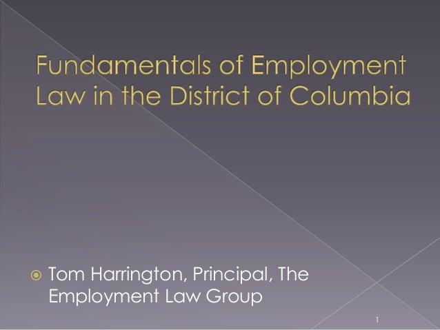  Tom Harrington, Principal, The Employment Law Group 1