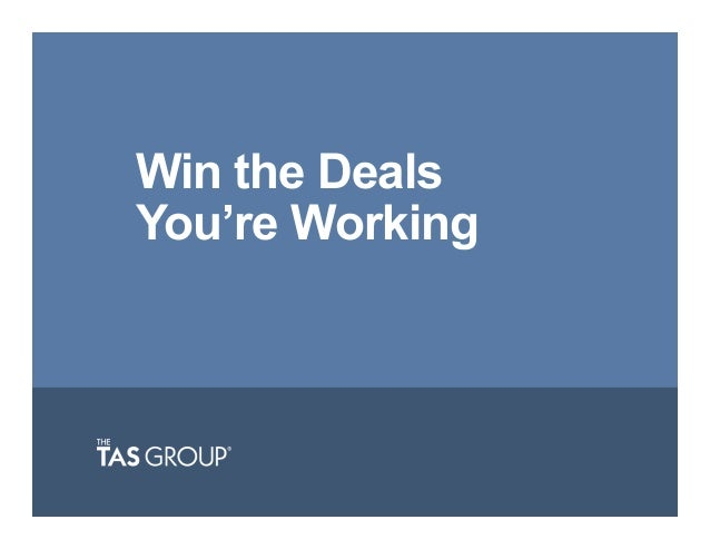 Win the Deals You're Working