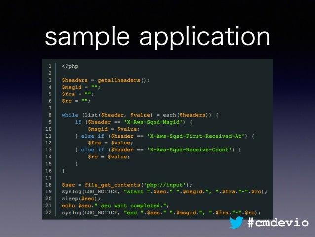 sample application #cmdevio