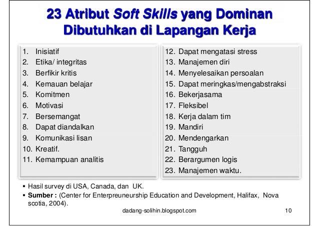 contoh personal skill dalam cv