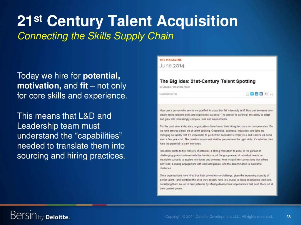 talent and acquisition Benefits • getting access to the 70% of people who do not answer to ads • understanding the market offer before recruiting from outside • reducing timing and.