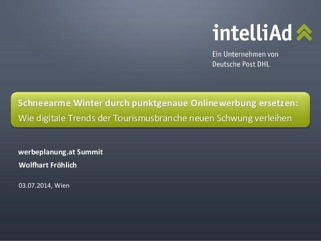 ©  intelliAd  Media  GmbH   03.07.2014,  Wien   Wol$art  Fröhlich   werbeplanung.at  Summit   Schneear...