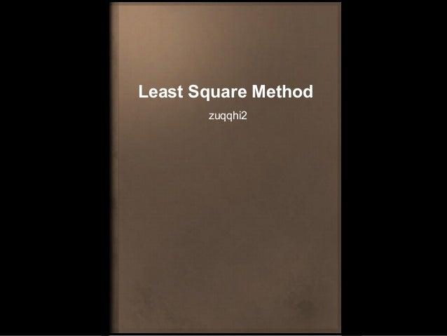 Least Square Method zuqqhi2