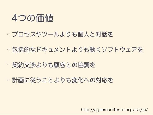 12の原則 http://agilemanifesto.org/iso/ja/principles.html