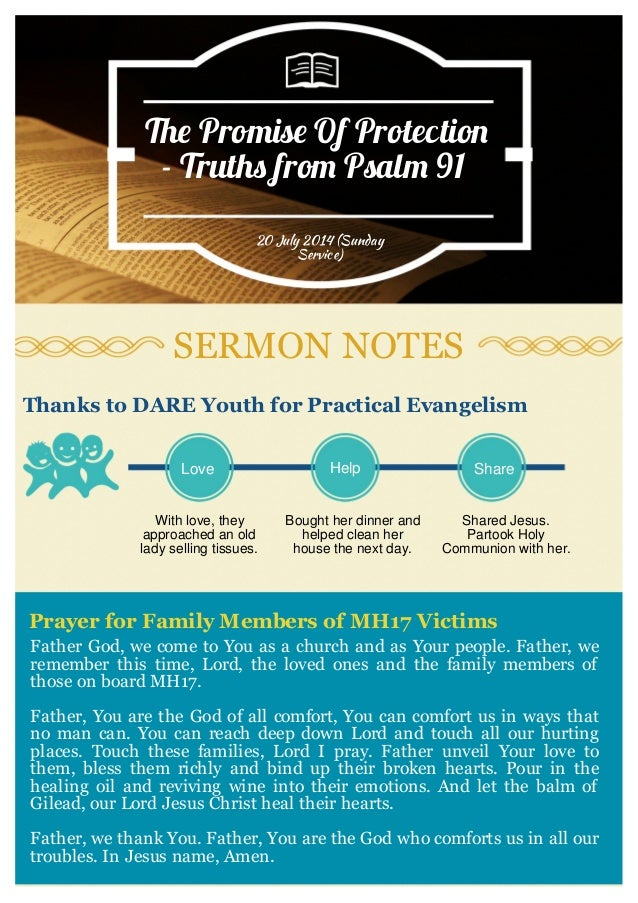 Sermon Summary: Psalm 91 Truths preached by Pastor Joseph Prince (20 …