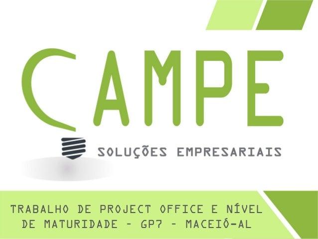 TRABALHO DE PROJECT OFFICE E NÍVEL DE MATURIDADE – GP7 – MACEIÓ-AL
