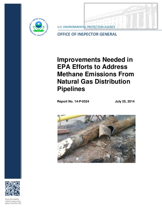 Scan this mobile code to learn more about the EPA OIG. Improvements Needed in EPA Efforts to Address Methane Emissions Fro...