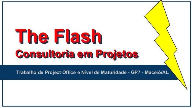 The Flash Consultoria em Projetos Trabalho de Project Office e Nível de Maturidade - GP7 - Maceió/AL The Flash Consultoria...