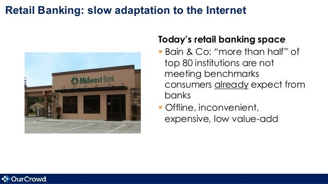 """Today's retail banking space §Bain & Co: """"more than half"""" of top 80 institutions are not meeting benchmarks consumers al..."""
