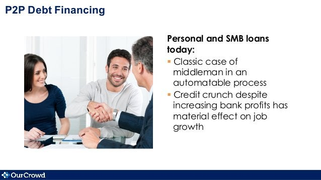 Personal and SMB loans today: §Classic case of middleman in an automatable process §Credit crunch despite increasing b...