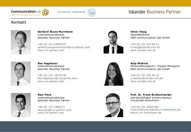 32 Gerhard Souza Murrmann Unternehmensberater Iskander Business Partner +49 (0) 151 64405707 gerhard.souzamurrmann@i-b-par...