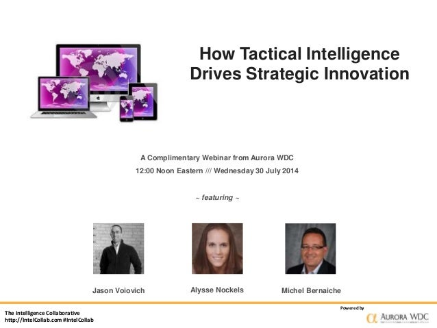 The Intelligence Collaborative http://IntelCollab.com #IntelCollab Powered by How Tactical Intelligence Drives Strategic I...