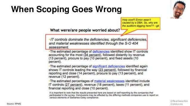 @RealGeneKim @jdeluccia When Scoping Goes Wrong Source: KPMG