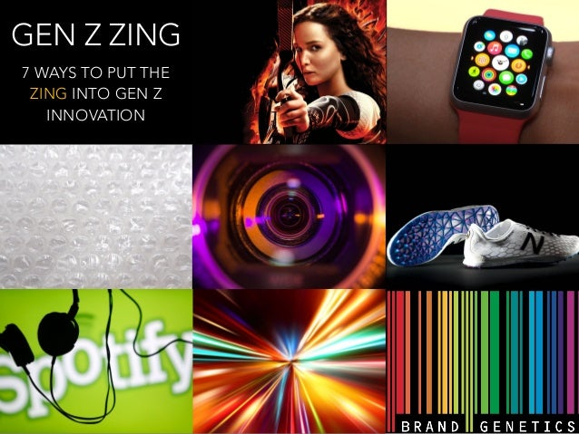 GEN Z ZING  7 WAYS TO PUT THE  ZING INTO GEN Z  INNOVATION