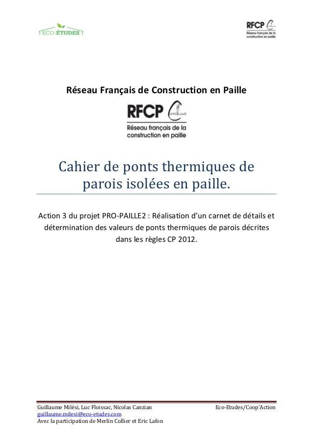 Guillaume Milési, Luc Floissac, Nicolas Canzian Eco-Etudes/Coop'Action guillaume.milesi@eco-etudes.com Avec la participati...