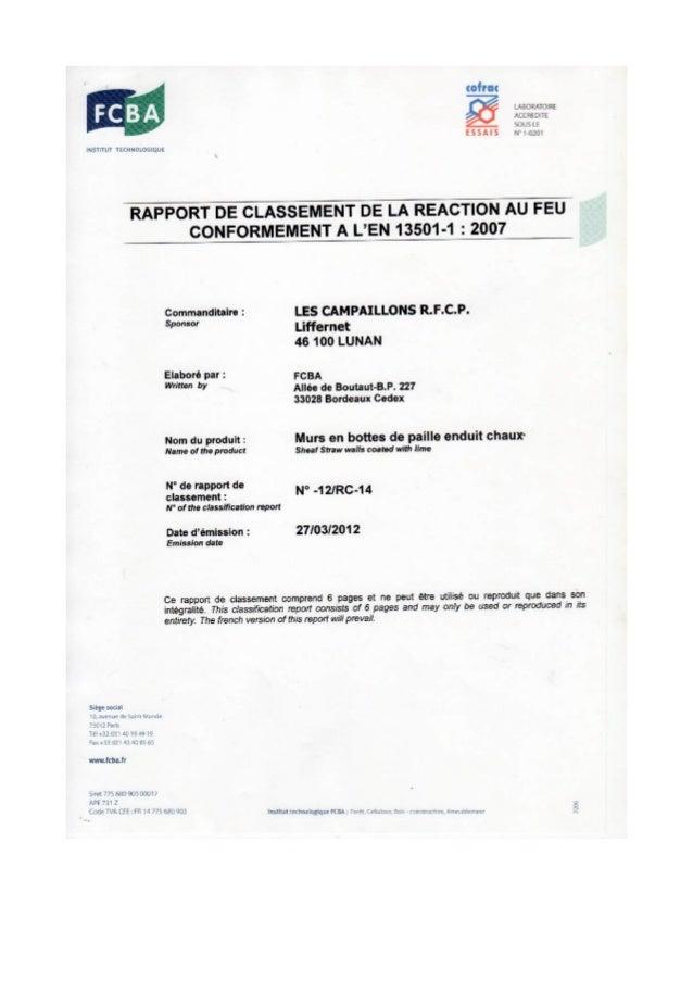 RAINBOW by ECS-3.COM: norms -rapport classement feu mars 2012
