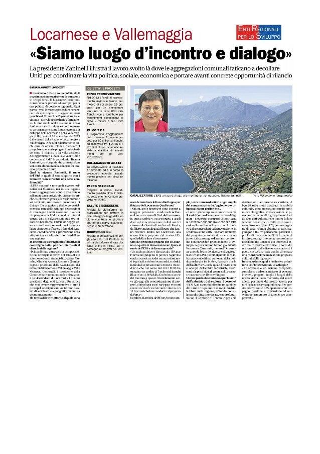 Ente per lo sviluppo del Locarnese e Vallemaggia, ERS-LVM, siamo luogo d'incontro e dialogo