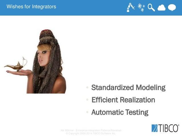 Kai Wähner - Enterprise Integration Patterns Revisited © Copyright 2000-2014 TIBCO Software Inc. • Standardized Modeling •...