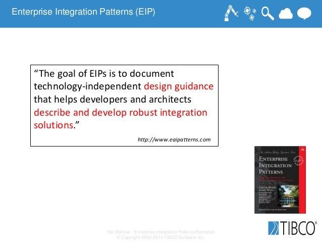 "Kai Wähner - Enterprise Integration Patterns Revisited © Copyright 2000-2014 TIBCO Software Inc. ""The goal of EIPs is to d..."