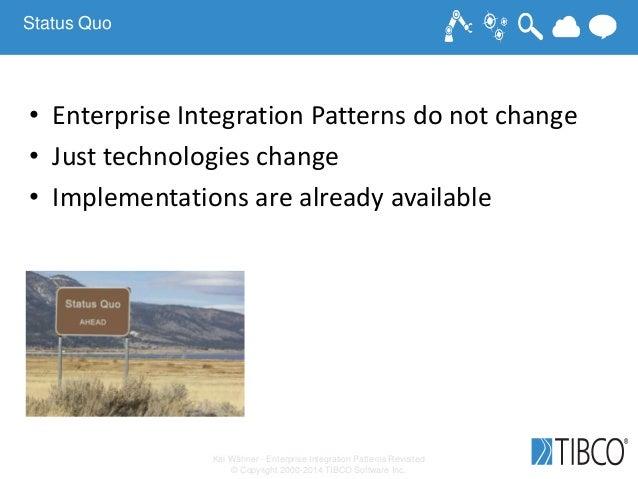 Kai Wähner - Enterprise Integration Patterns Revisited © Copyright 2000-2014 TIBCO Software Inc. Status Quo • Enterprise I...