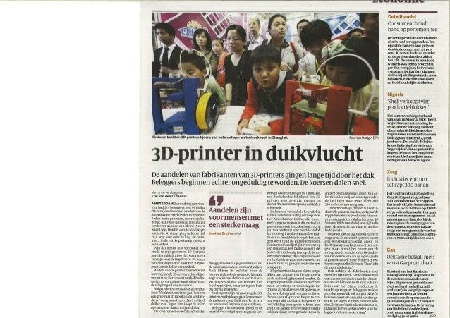 20140814 volkskrant   3 d-printer in duikvlucht
