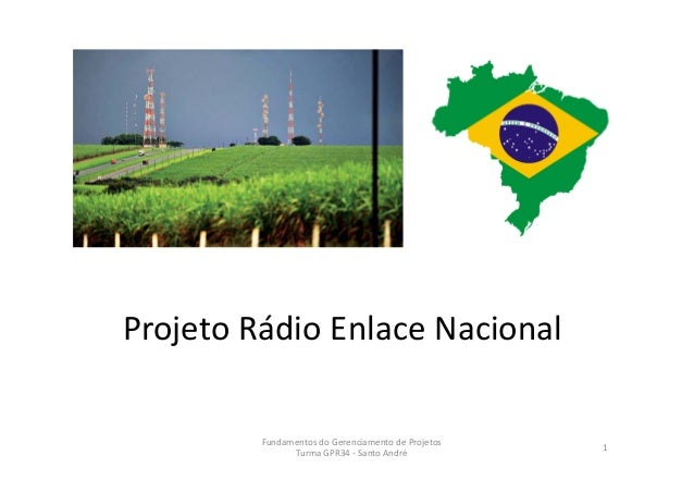 ProjetoRádioEnlaceNacional FundamentosdoGerenciamentodeProjetos TurmaGPR34‐ SantoAndré 1