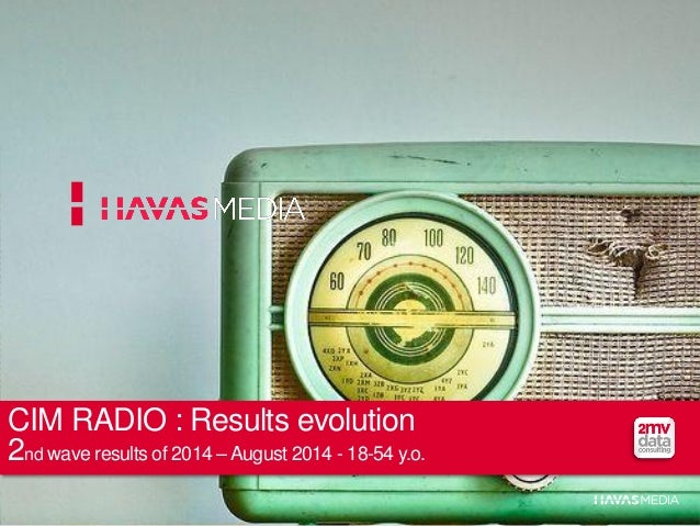 CIM RADIO : Results evolution  2nd wave results of 2014 –August 2014 - 18-54 y.o.