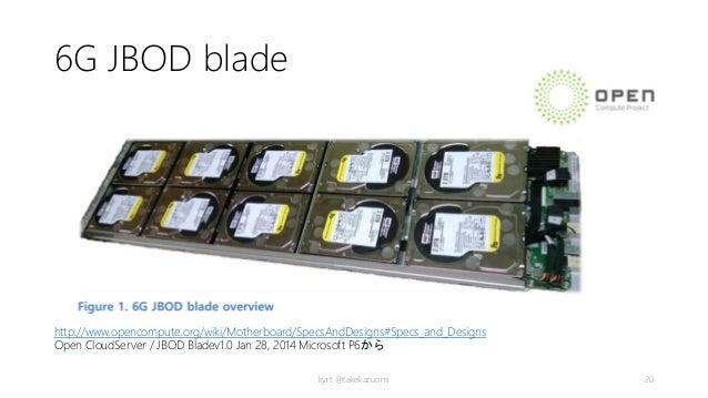 6G JBOD blade http://www.opencompute.org/wiki/Motherboard/SpecsAndDesigns#Specs_and_Designs Open CloudServer / JBOD Bladev...