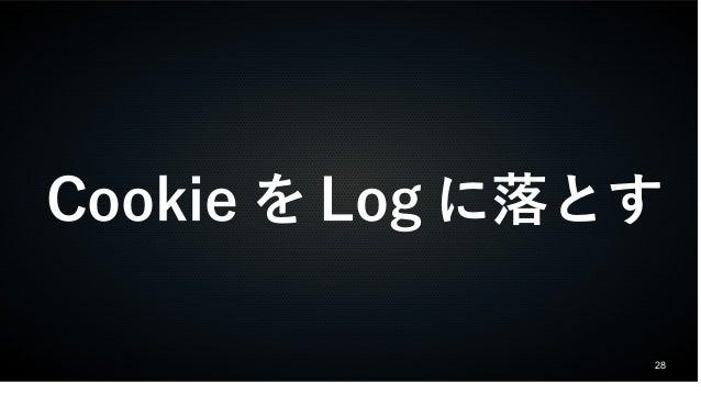 CookieをLogに落とす  28