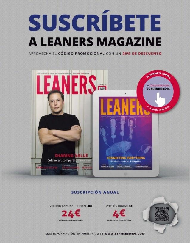 SUSCRÍBETE AHORA A LEANERS MAGAZINE //// CÓDIGO PROMOCIONAL SUSLEANERS14