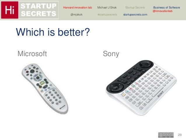 Harvard innovation lab Michael J Skok Startup Secrets Business of Software  29  @innovationlab  @mjskok #startupsecrets st...